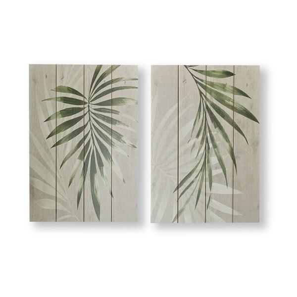 Sada 2 nástěnných obrazů Graham & Brown Peaceful Palm Leaves