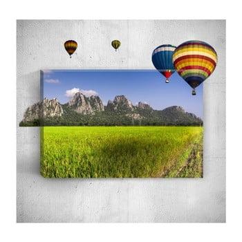 Tablou de perete 3D Mosticx Air Balloons, 40 x 60 cm