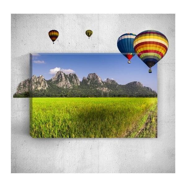 Nástěnný 3D obraz Mosticx Air Balloons, 40 x 60 cm