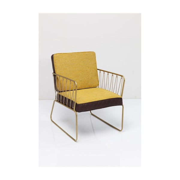 Černo žluté křeslo Kare Design String