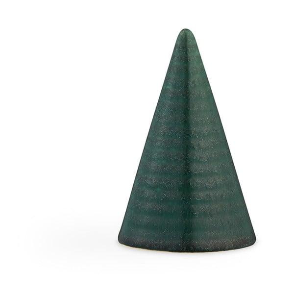 Glazed Cone Dark Green sötétzöld agyagkerámia dekorációs szobor, magasság 11 cm - Kähler Design
