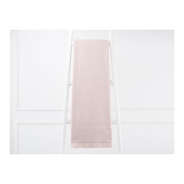 Pudrově růžový bavlněný ručník Eleanor, 70 x 140 cm