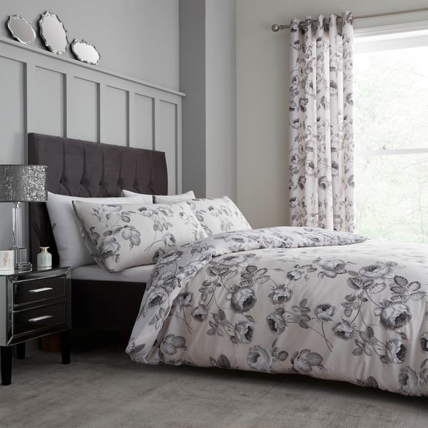 Lenjerie din bumbac pentru pat dublu Catherine Lansfield Shrewsbury, 220 x 230 cm