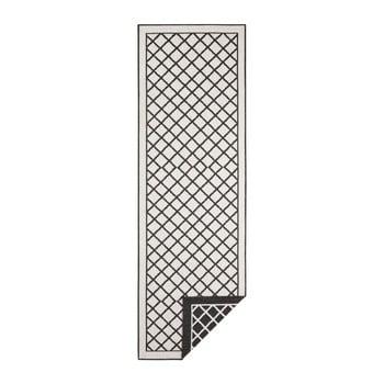 Covor adecvat pentru exterior Bougari Twin Supreme, 80 x 350 cm, negru-crem imagine