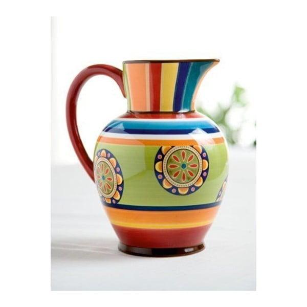 Kolorowy dzbanek ceramiczny Brandani Etno