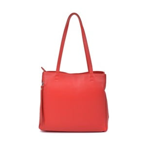 Červená kožená kabelka Roberta M Murlo