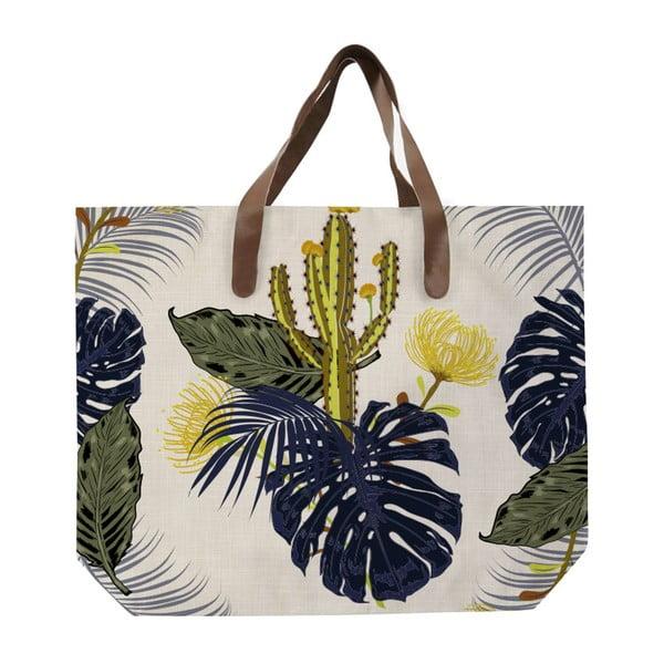 Sacoșă de pânză, model cu flori, Surdic Cactus