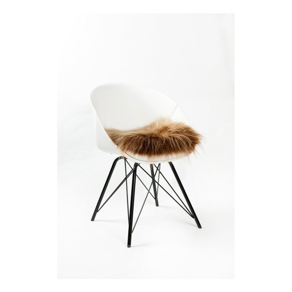 Hnědý sedák na židli Woooly Icelandic