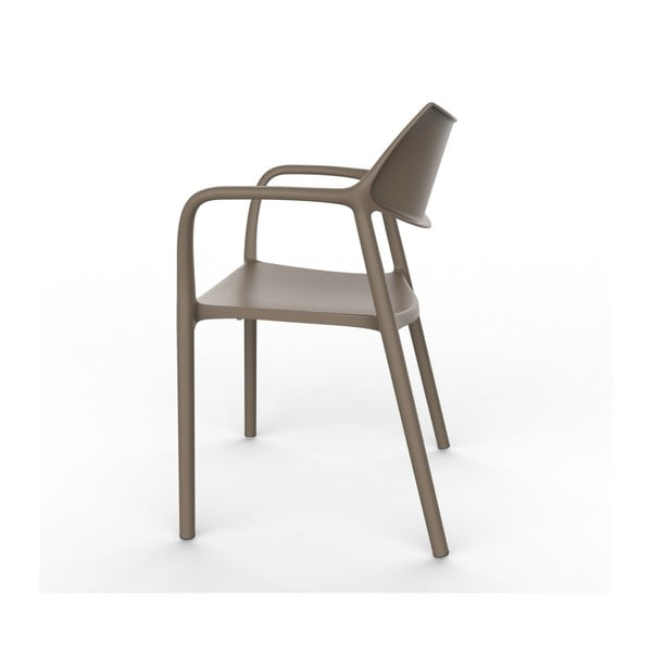 Set 2 scaune de grădină cu cotierei Resol Splash, maro