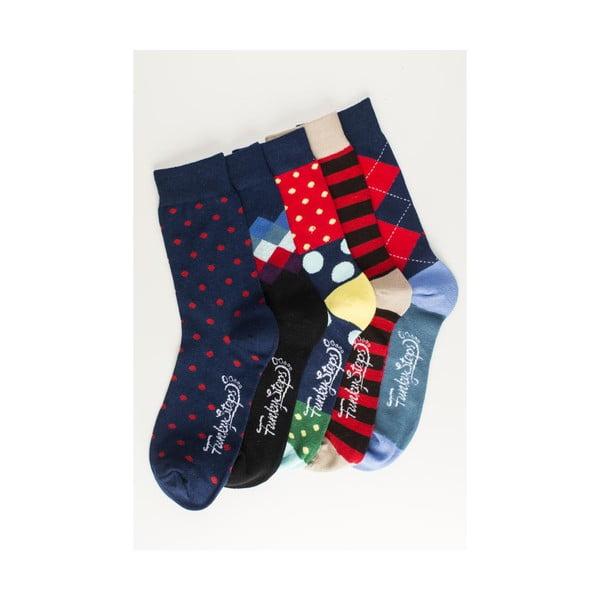 Pět párů ponožek Funky Steps Portia, unisex velikost