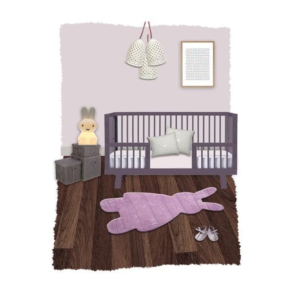 Dětský růžový koberec Nattiot Bunny, 85x140cm