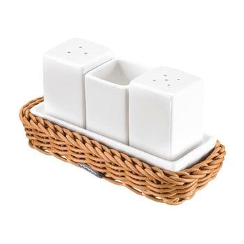 Set accesorii masă cu suport Westmark, alb-natural poza