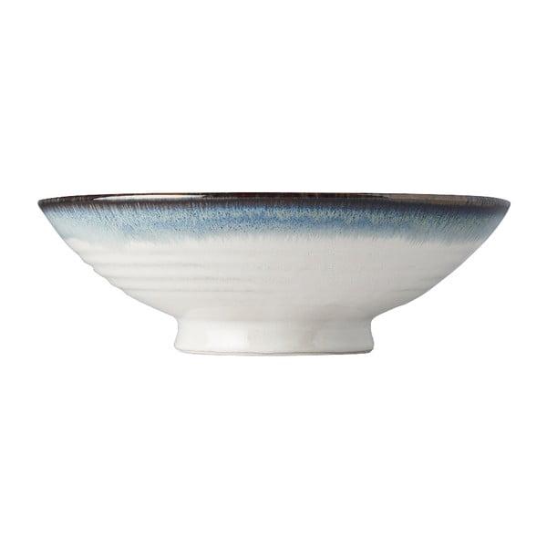 Biela keramická miska na ramen MIJ Aurora, ø25 cm