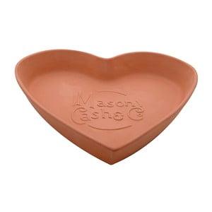 Terakotová mísa Heart, 28 cm