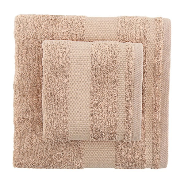 Sada 2 hnědých bavlněných ručníků Tommy