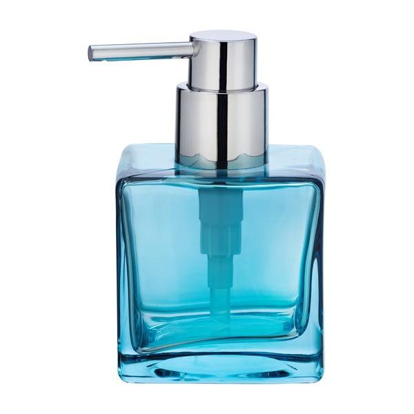 Dozator sticlă pentru săpun Wenko Lavit, 280ml, albastru