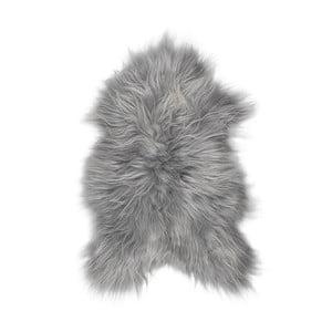 Šedá ovčí kožešina s dlouhým chlupem Arctic Fur Ptelja, 100x55cm