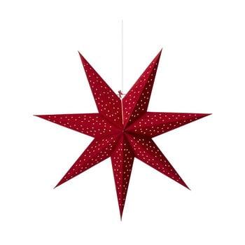 Decorațiune luminoasă suspendată Markslöjd Clara, ø 75 cm, roșu