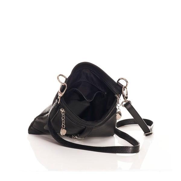 Kožřená kabelka Federica Bassi Cross Body, černá