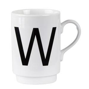 Porcelánový písmenkový hrnek W