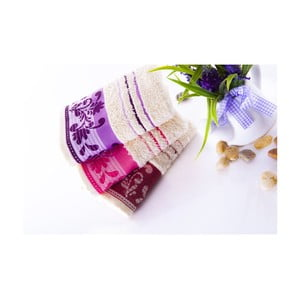 Set tří ručníků Melodi Purple, 30x50 cm