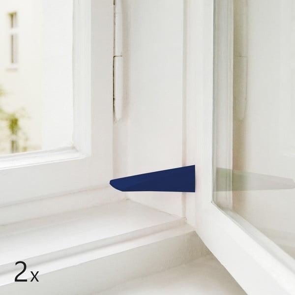 Sada 2 dveřních/okenních zarážek, tmavě modré
