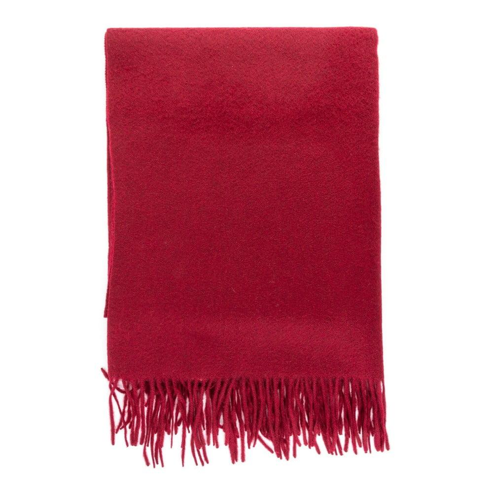 Tmavě červená kašmírová šála Bel cashmere Lea, 200 x 70 cm