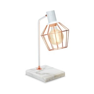 Bílá stolní lampa Salt&Pepper Marble