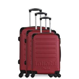 Sada 3 vínová cestovních kufrů na kolečkách Infinitif Horten-A