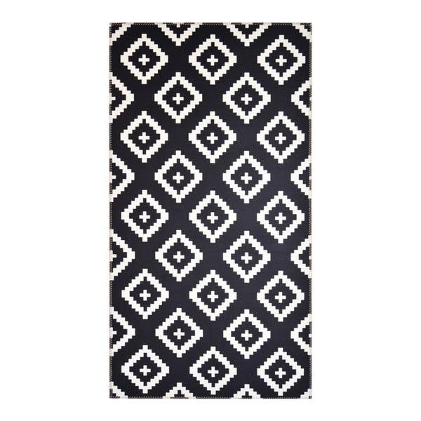 Covor Vitaus Geo Winston, 80 x 150 cm, alb-negru
