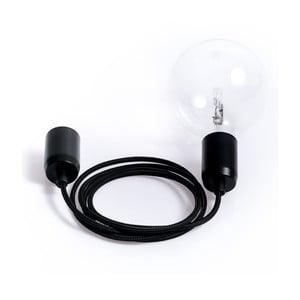 Barevný kabel Loft Metal se žárovkou, černý tulipán