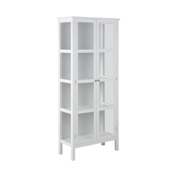 Bílá 2dveřová vitrína Actona Eton, výška180cm