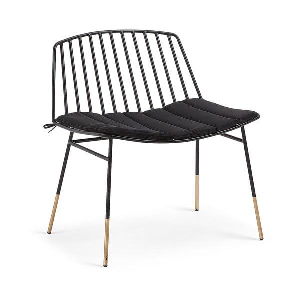 Czarne krzesło La Forma Siena