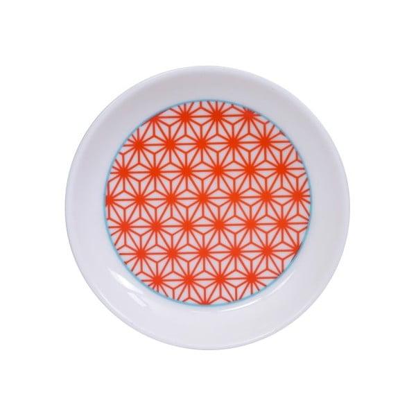 Červeno-bílý talířek Tokyo Design Studio Star/Wave, ø9cm
