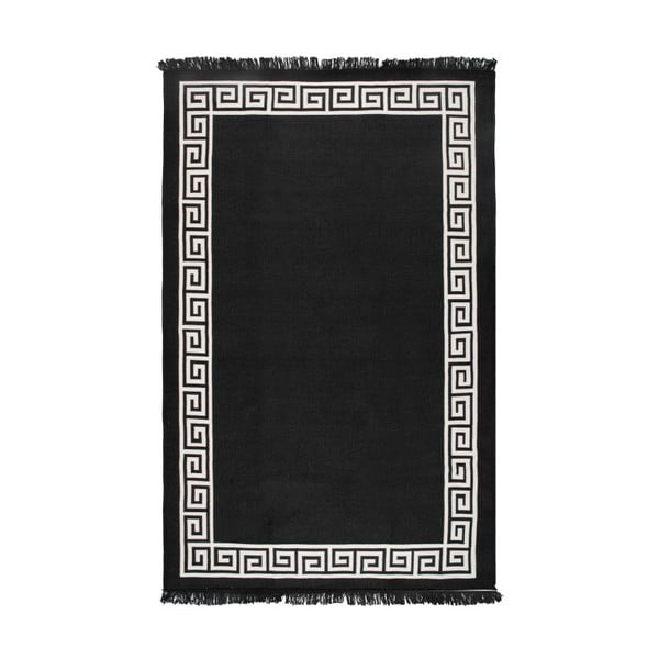 Béžovo-černý oboustranný koberec Justed,80x150cm
