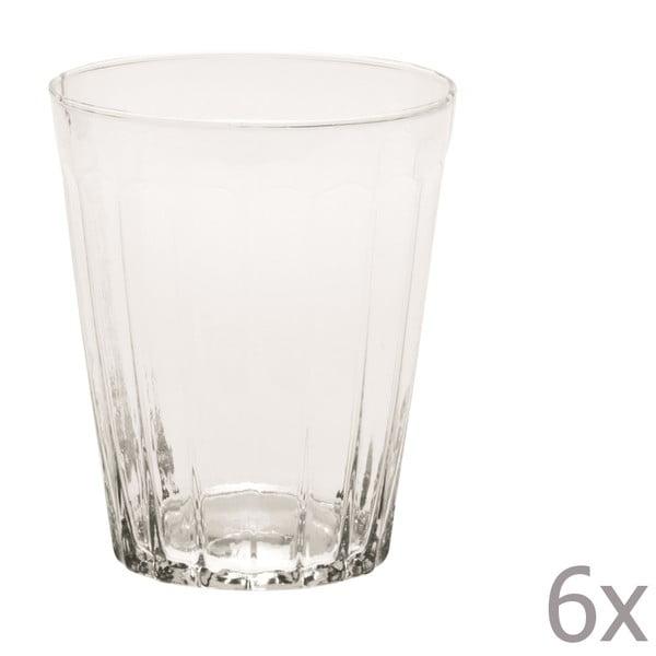 Sada 6 sklenic na vodu Lucca Transparent, 450 ml