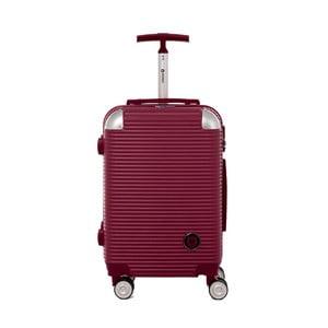Tmavě červený cestovní kufr na kolečkách s kódovým zámkem Teddy Bear Larisa, 44 l