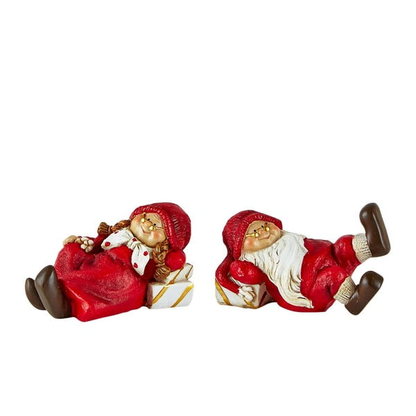 Set 2 figurine decorative de Crăciun KJ Collection Pixie II