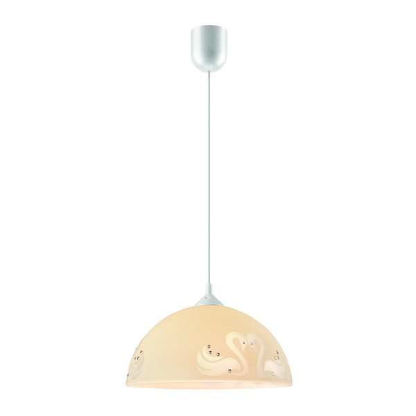 Béžové závěsné svítidlo Lamkur Swan