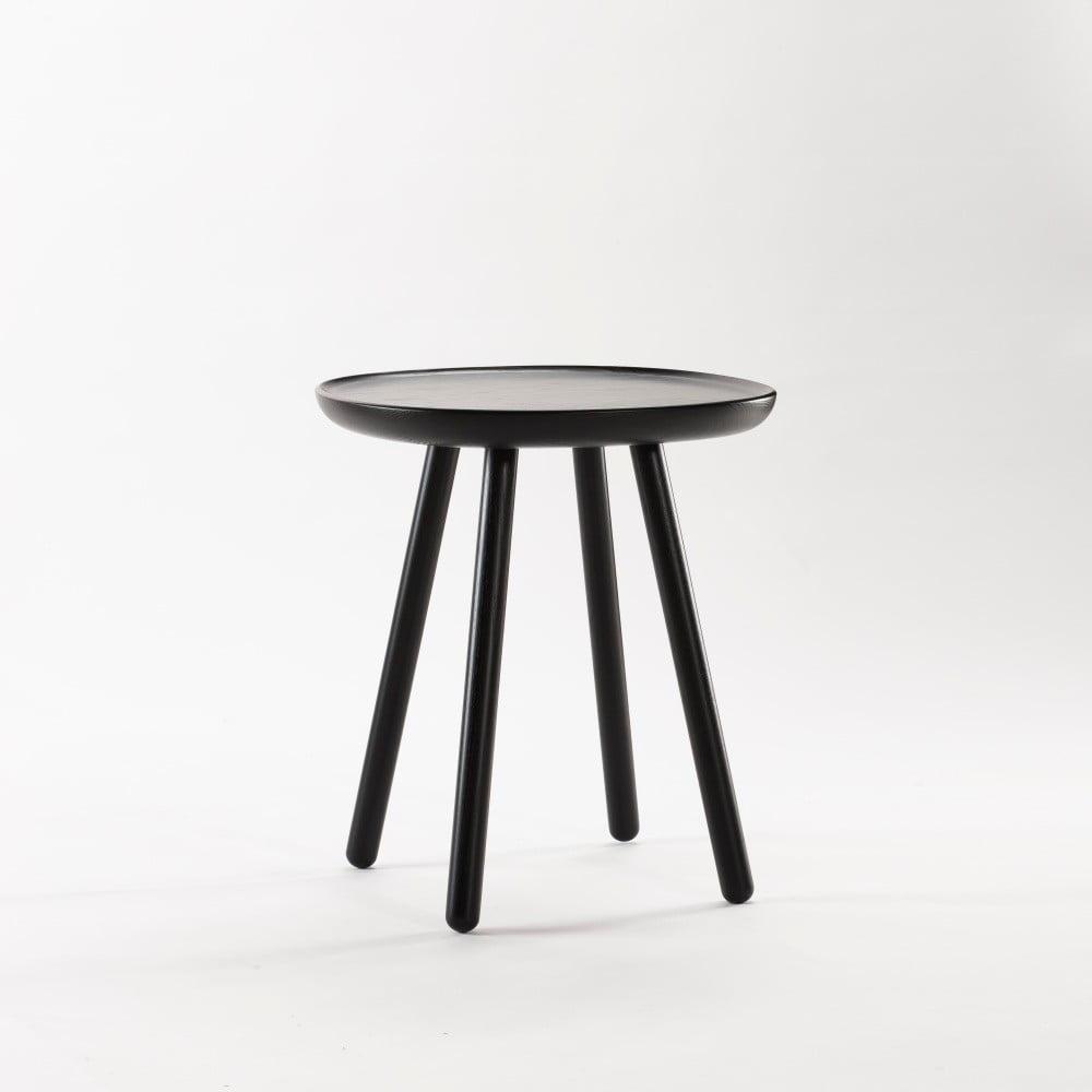 Černý odkládací stolek z masivu Emko Naïve Small