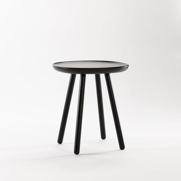 Naïve Small fekete tárolóasztal, ø45cm - EMKO