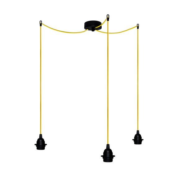 Tři závěsné kabely Uno+, žlutá/černá