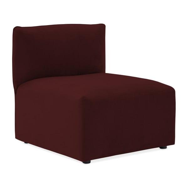 Vínově červená třímístná modulová pohovka Vivonita Velvet Cube