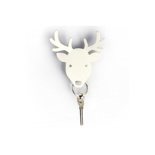 Věšáček na klíče QUALY Deer Key Holder, bílý