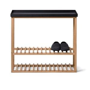 Etajeră încălțăminte/masă auxiliară cu blat negru Wireworks Hello Storage