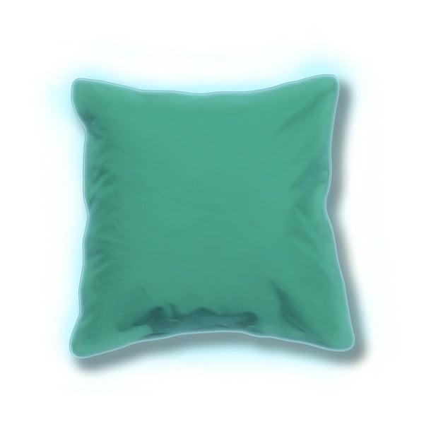 Zestaw 2 niebieskich świecących poduszek odpowiednich na zewnątrz Sunvibes, 65x65 cm