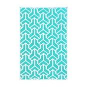 Vlněný koberec Kilim no. 170, 120x180 cm, modrý