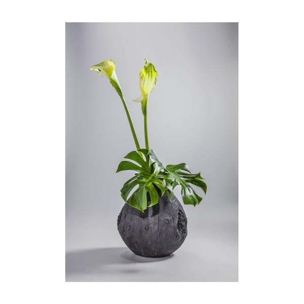 Čierna váza Kare Design Elemento, výška 41 cm