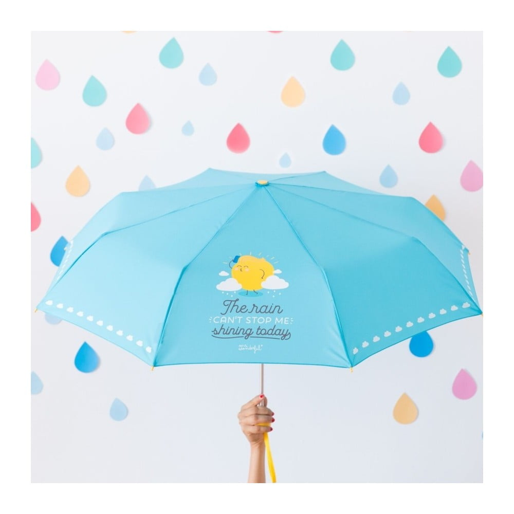 Modrý deštník Mr. Wonderful The rain can't stop me shining