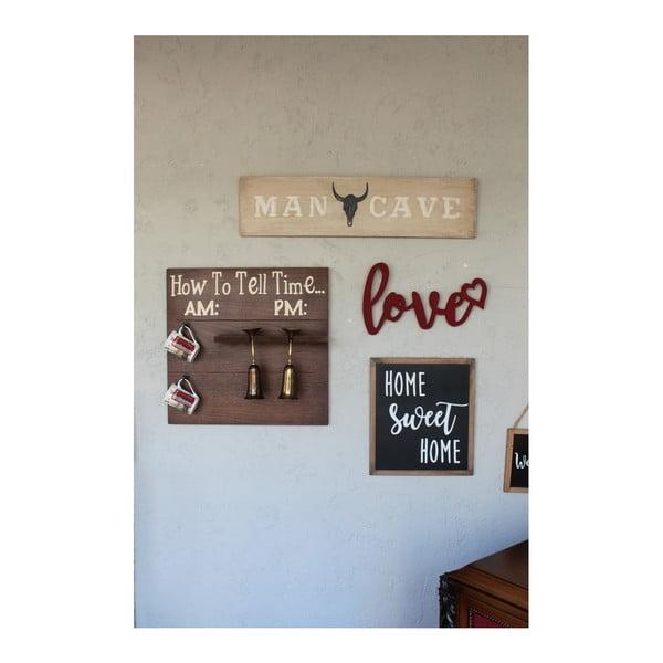 Decorațiune de perete pentru Crăciun Love, 42x2x25 cm